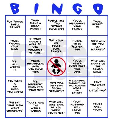 Child-Free Bingo! | ChaTo (Carlos Castillo)